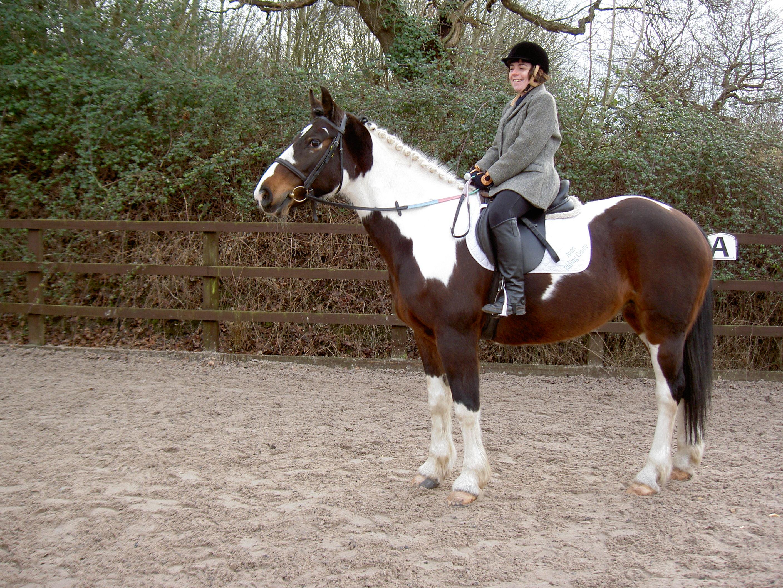 Zoe riding Hope