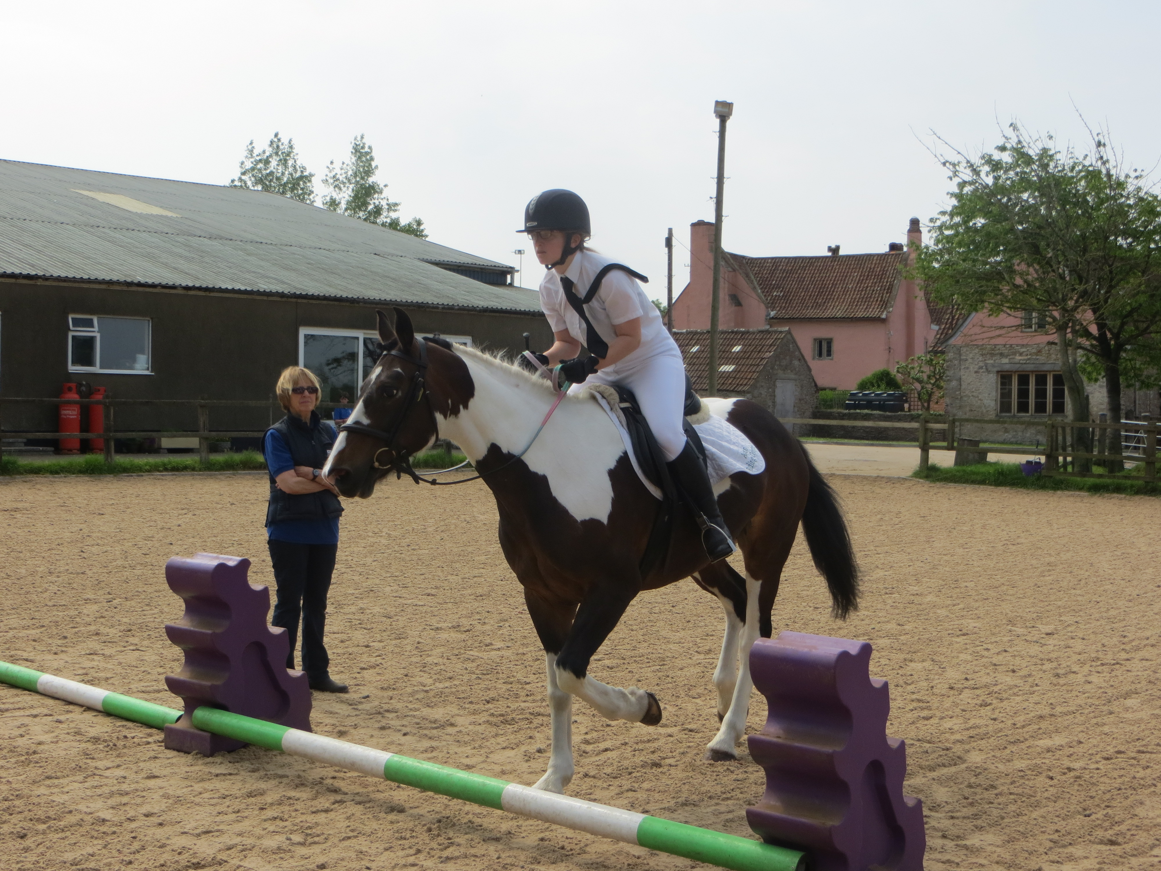 Stella on Hope in the Level 2 Showjumping