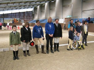 Class 1 riders about to receive their rosettes