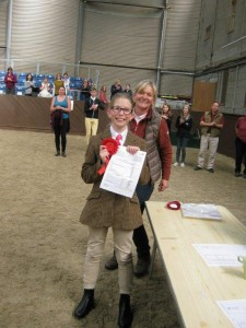 Class 2 winner Neve with judge Claire Hacker
